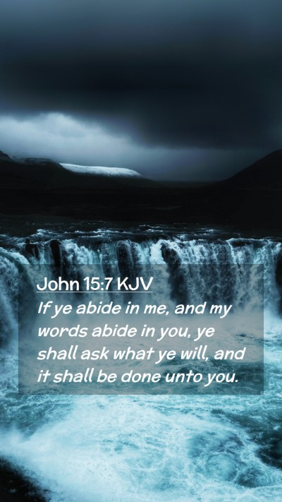 Picture 02 - John 15:7 KJV Mobile Phone Wallpaper - If ye abide in me, and my words abide in you, ye - Mobile Bible Verse Wallpaper