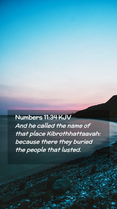 Picture 02 - Numbers 11:34 KJV Mobile Phone Wallpaper - And he called the name of that place - Mobile Bible Verse Wallpaper