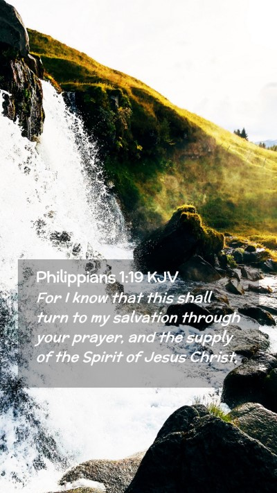 Picture 02 - Philippians 1:19 KJV Mobile Phone Wallpaper - For I know that this shall turn to my salvation - Mobile Bible Verse Wallpaper