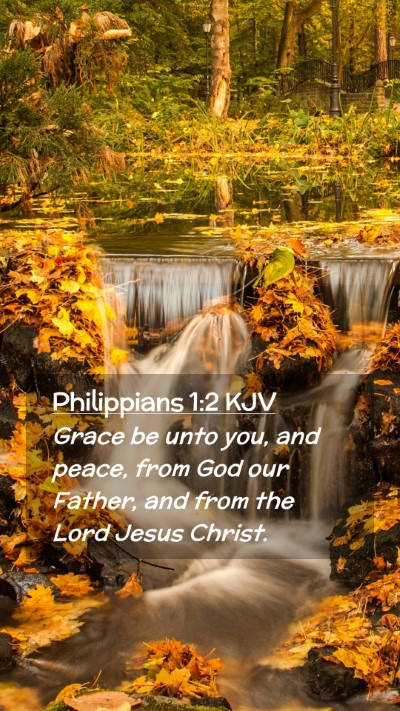 Picture 02 - Philippians 1:2 KJV Mobile Phone Wallpaper - Grace be unto you, and peace, from God our - Mobile Bible Verse Wallpaper
