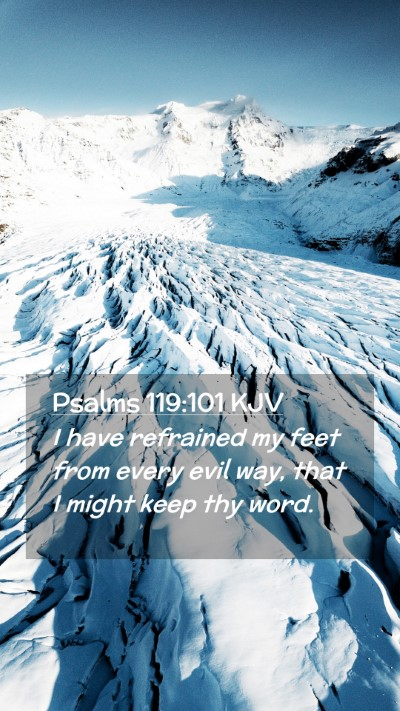 Picture 02 - Psalms 119:101 KJV Mobile Phone Wallpaper - I have refrained my feet from every evil way, - Mobile Bible Verse Wallpaper