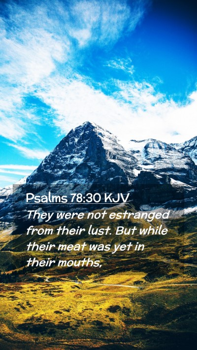Picture 02 - Psalms 78:30 KJV Mobile Phone Wallpaper - They were not estranged from their lust. But - Mobile Bible Verse Wallpaper