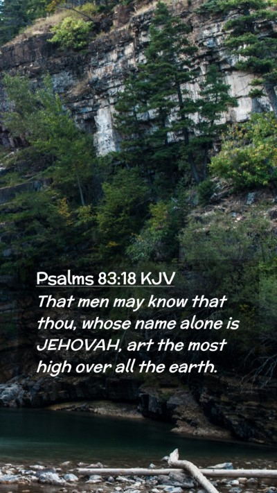 Picture 02 - Psalms 83:18 KJV Mobile Phone Wallpaper - That men may know that thou, whose name alone is - Mobile Bible Verse Wallpaper