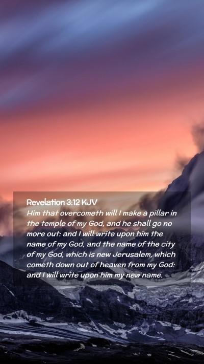 Picture 02 - Revelation 3:12 KJV Mobile Phone Wallpaper - Him that overcometh will I make a pillar in the - Mobile Bible Verse Wallpaper