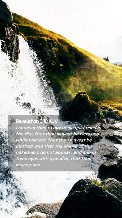 Picture 02 - Revelation 3:18 KJV Mobile Phone Wallpaper - I counsel thee to buy of me gold tried in the - Mobile Bible Verse Wallpaper