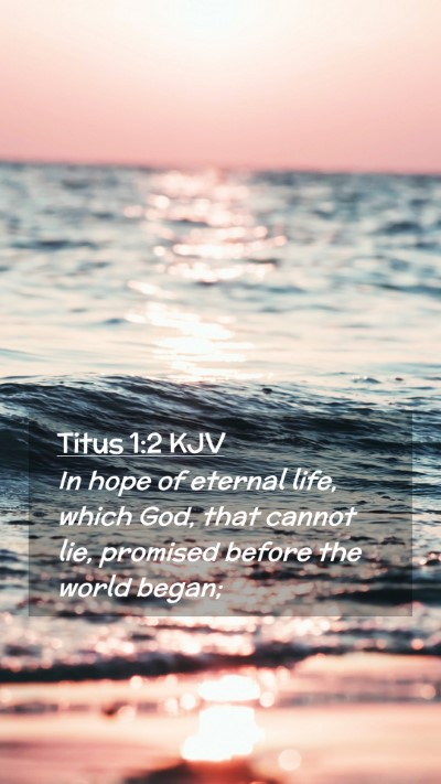Picture 02 - Titus 1:2 KJV Mobile Phone Wallpaper - In hope of eternal life, which God, that cannot - Mobile Bible Verse Wallpaper