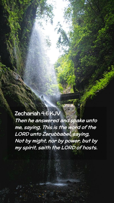 Picture 02 - Zechariah 4:6 KJV Mobile Phone Wallpaper - Then he answered and spake unto me, saying, This - Mobile Bible Verse Wallpaper