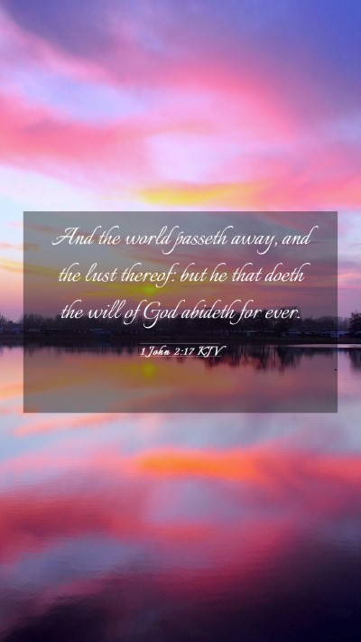 Picture 03 - 1 John 2:17 KJV Mobile Phone Wallpaper - And the world passeth away, and the lust thereof: - Mobile Bible Verse Wallpaper