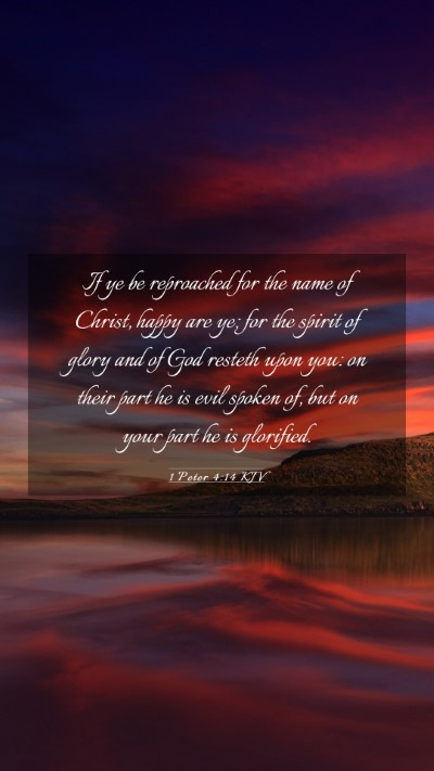 Picture 03 - 1 Peter 4:14 KJV Mobile Phone Wallpaper - If ye be reproached for the name of Christ, happy - Mobile Bible Verse Wallpaper