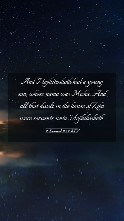 Picture 03 - 2 Samuel 9:12 KJV Mobile Phone Wallpaper - And Mephibosheth had a young son, whose name was - Mobile Bible Verse Wallpaper