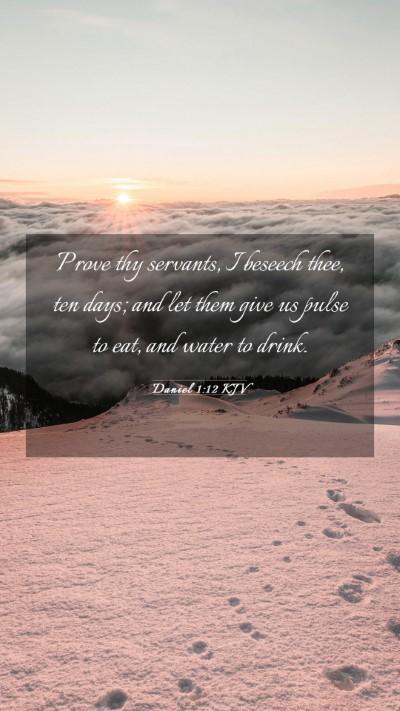 Picture 03 - Daniel 1:12 KJV Mobile Phone Wallpaper - Prove thy servants, I beseech thee, ten days; and - Mobile Bible Verse Wallpaper