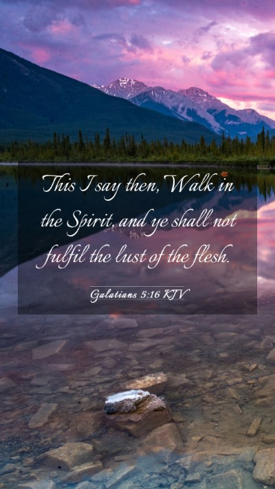 Picture 03 - Galatians 5:16 KJV Mobile Phone Wallpaper - This I say then, Walk in the Spirit, and ye shall - Mobile Bible Verse Wallpaper
