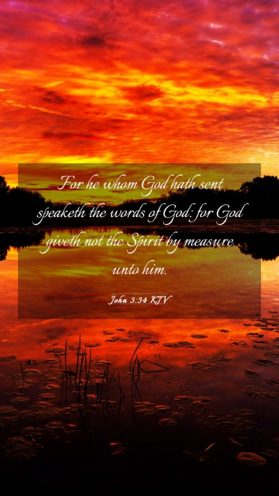 Picture 03 - John 3:34 KJV Mobile Phone Wallpaper - For he whom God hath sent speaketh the words of - Mobile Bible Verse Wallpaper