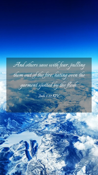 Picture 03 - Jude 1:23 KJV Mobile Phone Wallpaper - And others save with fear, pulling them out of - Mobile Bible Verse Wallpaper