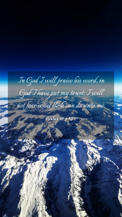 Picture 03 - Psalms 56:4 KJV Mobile Phone Wallpaper - In God I will praise his word, in God I have put - Mobile Bible Verse Wallpaper