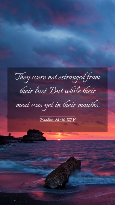 Picture 03 - Psalms 78:30 KJV Mobile Phone Wallpaper - They were not estranged from their lust. But - Mobile Bible Verse Wallpaper