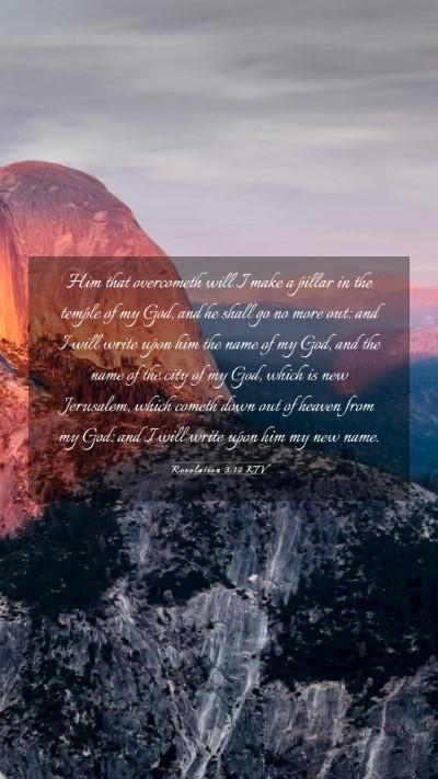 Picture 03 - Revelation 3:12 KJV Mobile Phone Wallpaper - Him that overcometh will I make a pillar in the - Mobile Bible Verse Wallpaper