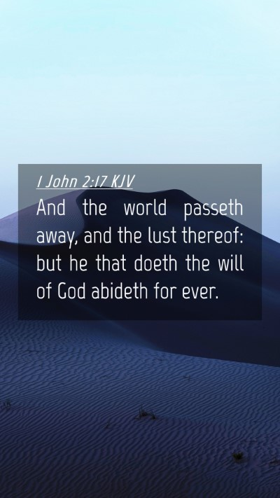 Picture 04 - 1 John 2:17 KJV Mobile Phone Wallpaper - And the world passeth away, and the lust thereof: - Mobile Bible Verse Wallpaper