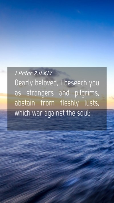 Picture 04 - 1 Peter 2:11 KJV Mobile Phone Wallpaper - Dearly beloved, I beseech you as strangers and - Mobile Bible Verse Wallpaper