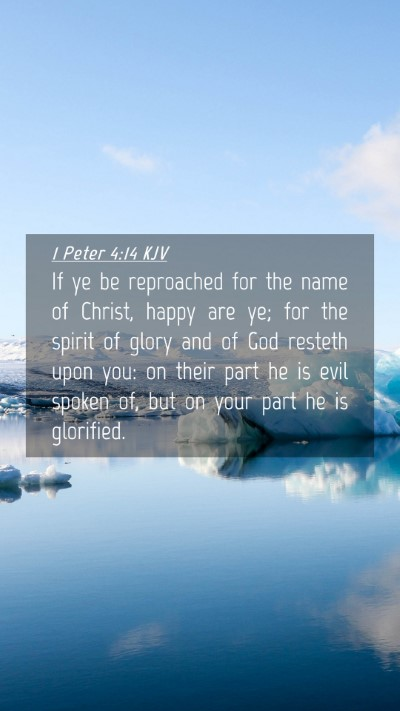 Picture 04 - 1 Peter 4:14 KJV Mobile Phone Wallpaper - If ye be reproached for the name of Christ, happy - Mobile Bible Verse Wallpaper