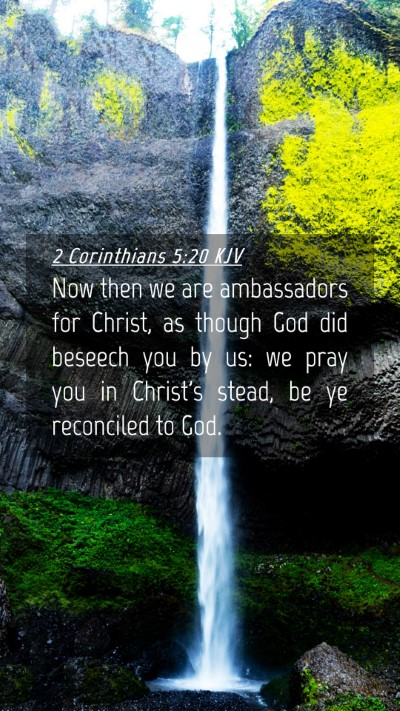 Picture 04 - 2 Corinthians 5:20 KJV Mobile Phone Wallpaper - Now then we are ambassadors for Christ, as though - Mobile Bible Verse Wallpaper
