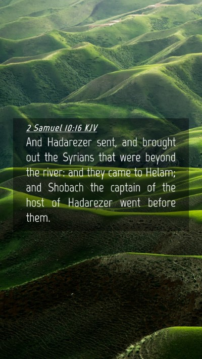 Picture 04 - 2 Samuel 10:16 KJV Mobile Phone Wallpaper - And Hadarezer sent, and brought out the Syrians - Mobile Bible Verse Wallpaper