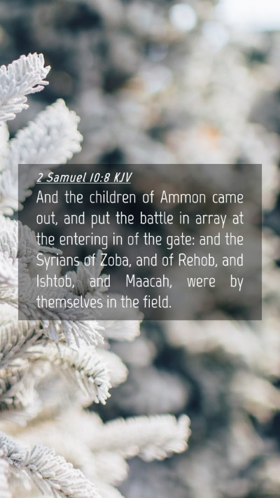 Picture 04 - 2 Samuel 10:8 KJV Mobile Phone Wallpaper - And the children of Ammon came out, and put the - Mobile Bible Verse Wallpaper