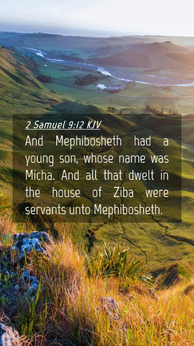 Picture 04 - 2 Samuel 9:12 KJV Mobile Phone Wallpaper - And Mephibosheth had a young son, whose name was - Mobile Bible Verse Wallpaper