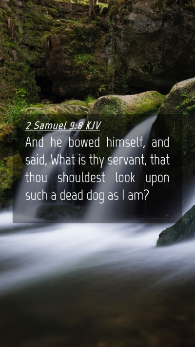 Picture 04 - 2 Samuel 9:8 KJV Mobile Phone Wallpaper - And he bowed himself, and said, What is thy - Mobile Bible Verse Wallpaper