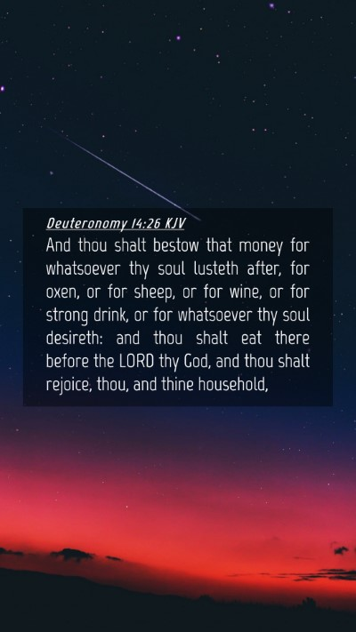 Picture 04 - Deuteronomy 14:26 KJV Mobile Phone Wallpaper - And thou shalt bestow that money for whatsoever - Mobile Bible Verse Wallpaper