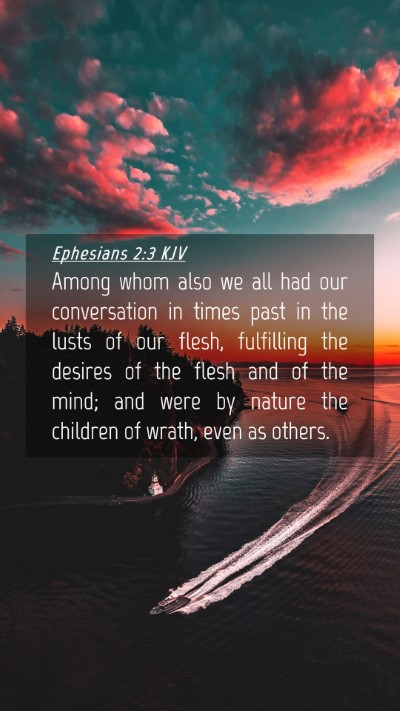 Picture 04 - Ephesians 2:3 KJV Mobile Phone Wallpaper - Among whom also we all had our conversation in - Mobile Bible Verse Wallpaper