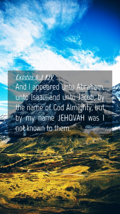 Picture 04 - Exodus 6:3 KJV Mobile Phone Wallpaper - And I appeared unto Abraham, unto Isaac, and unto - Mobile Bible Verse Wallpaper
