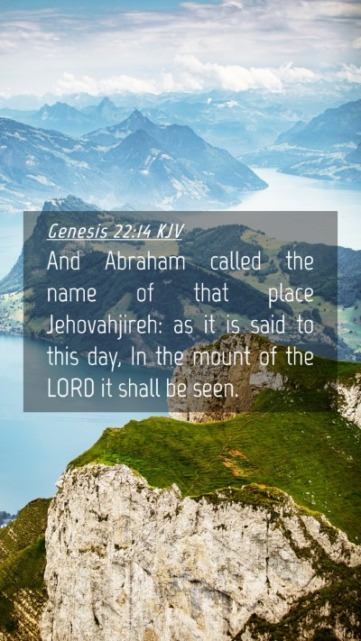 Picture 04 - Genesis 22:14 KJV Mobile Phone Wallpaper - And Abraham called the name of that place - Mobile Bible Verse Wallpaper