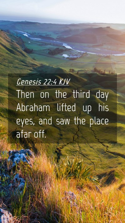 Picture 04 - Genesis 22:4 KJV Mobile Phone Wallpaper - Then on the third day Abraham lifted up his eyes, - Mobile Bible Verse Wallpaper