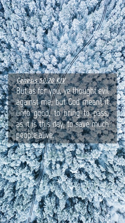 Picture 04 - Genesis 50:20 KJV Mobile Phone Wallpaper - But as for you, ye thought evil against me; but - Mobile Bible Verse Wallpaper