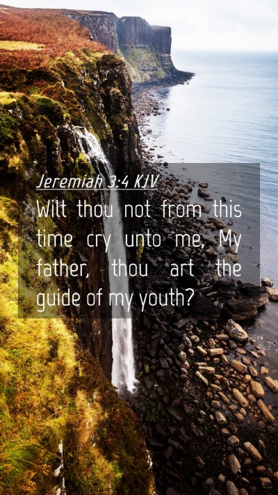 Picture 04 - Jeremiah 3:4 KJV Mobile Phone Wallpaper - Wilt thou not from this time cry unto me, My - Mobile Bible Verse Wallpaper