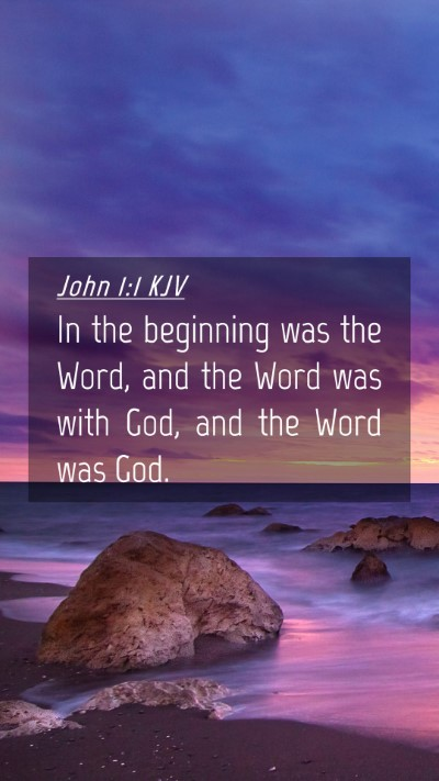 Picture 04 - John 1:1 KJV Mobile Phone Wallpaper - In the beginning was the Word, and the Word was - Mobile Bible Verse Wallpaper