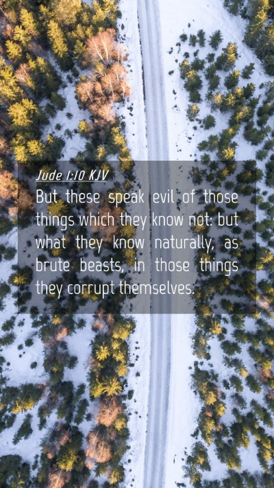 Picture 04 - Jude 1:10 KJV Mobile Phone Wallpaper - But these speak evil of those things which they - Mobile Bible Verse Wallpaper