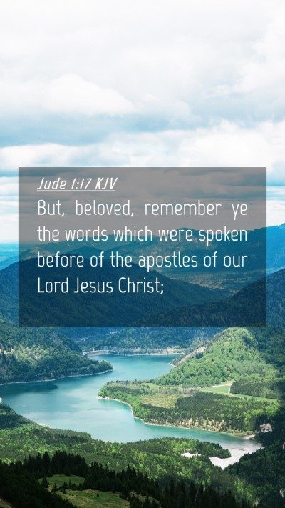 Picture 04 - Jude 1:17 KJV Mobile Phone Wallpaper - But, beloved, remember ye the words which were - Mobile Bible Verse Wallpaper