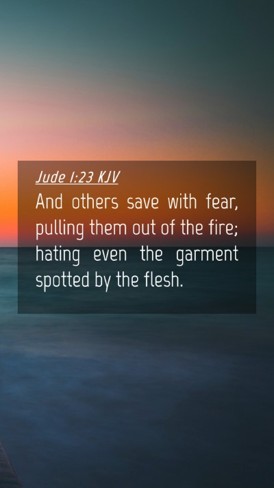 Picture 04 - Jude 1:23 KJV Mobile Phone Wallpaper - And others save with fear, pulling them out of - Mobile Bible Verse Wallpaper