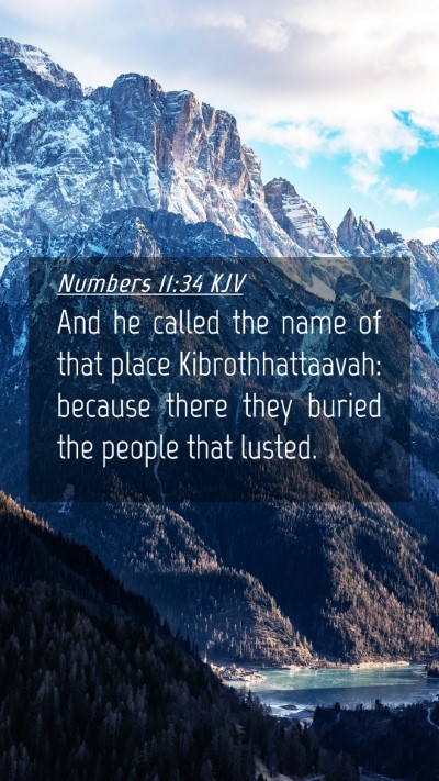 Picture 04 - Numbers 11:34 KJV Mobile Phone Wallpaper - And he called the name of that place - Mobile Bible Verse Wallpaper