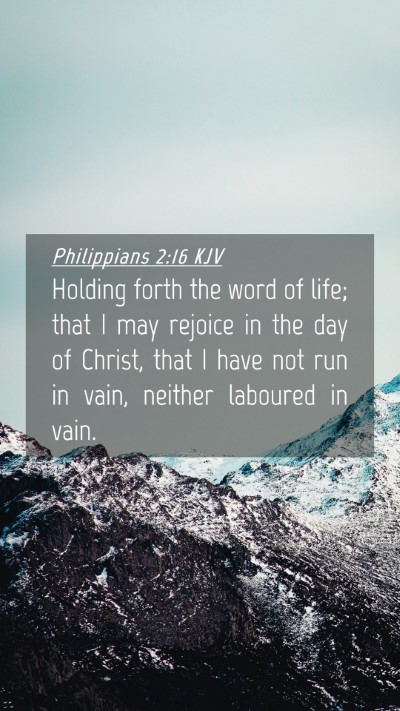Picture 04 - Philippians 2:16 KJV Mobile Phone Wallpaper - Holding forth the word of life; that I may - Mobile Bible Verse Wallpaper