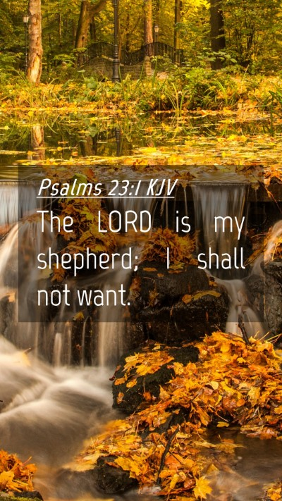 Picture 04 - Psalms 23:1 KJV Mobile Phone Wallpaper - The LORD is my shepherd; I shall not - Mobile Bible Verse Wallpaper