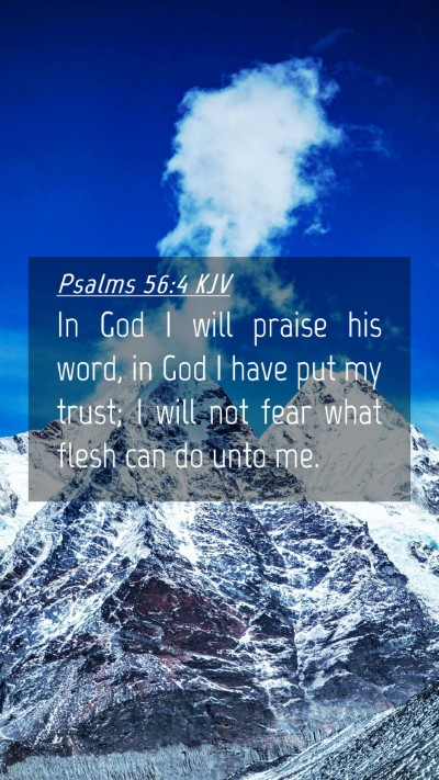 Picture 04 - Psalms 56:4 KJV Mobile Phone Wallpaper - In God I will praise his word, in God I have put - Mobile Bible Verse Wallpaper