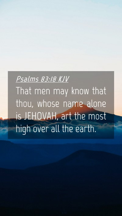 Picture 04 - Psalms 83:18 KJV Mobile Phone Wallpaper - That men may know that thou, whose name alone is - Mobile Bible Verse Wallpaper