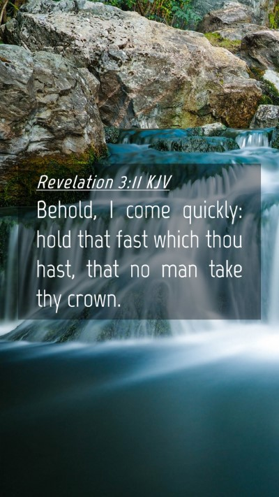 Picture 04 - Revelation 3:11 KJV Mobile Phone Wallpaper - Behold, I come quickly: hold that fast which thou - Mobile Bible Verse Wallpaper