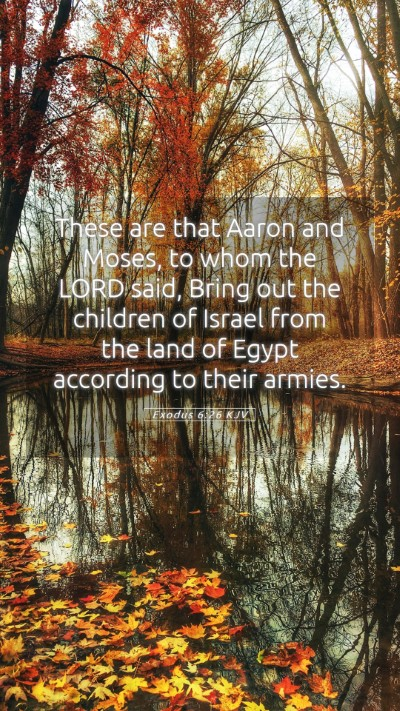 Picture 05 - Exodus 6:26 KJV Mobile Phone Wallpaper - These are that Aaron and Moses, to whom the LORD - Mobile Bible Verse Wallpaper