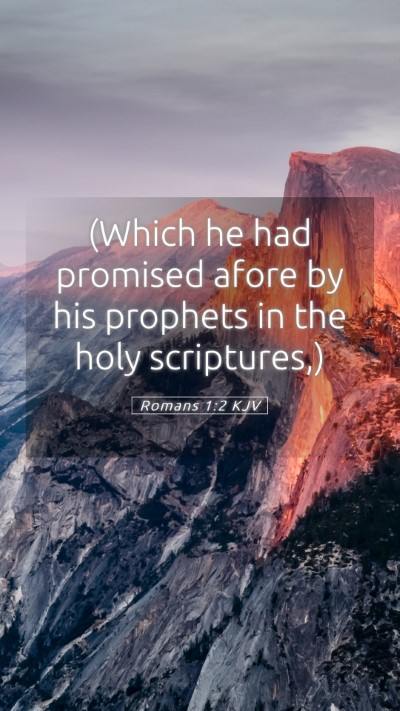 Picture 05 - Romans 1:2 KJV Mobile Phone Wallpaper - (Which he had promised afore by his prophets in - Mobile Bible Verse Wallpaper