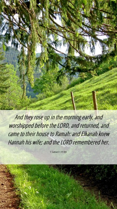 Picture 06 - 1 Samuel 1:19 KJV Mobile Phone Wallpaper - And they rose up in the morning early, and - Mobile Bible Verse Wallpaper