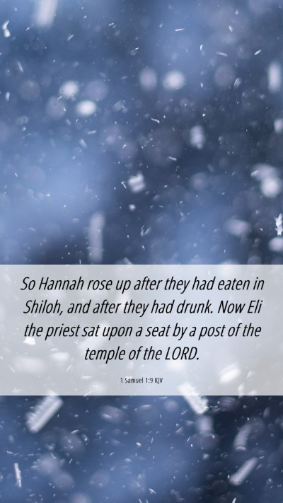 Picture 06 - 1 Samuel 1:9 KJV Mobile Phone Wallpaper - So Hannah rose up after they had eaten in Shiloh, - Mobile Bible Verse Wallpaper